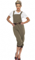 WW2 Land Army Girl Costume - Khaki (44438)